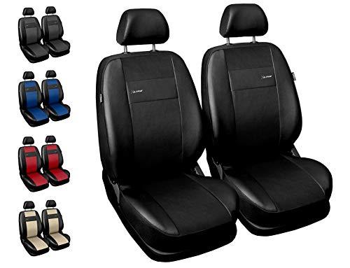 Carpendo Sitzbezüge Auto Vordersitze Autositzbezüge Schonbezüge Vorne mit Airbag System X-Line - Schwarz