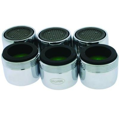 Neoperl Dual Thread 1.5 GPM Water-Saving Faucet Aerators (6-Pack), 706347