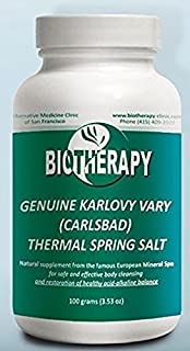 Biotherapy Genuine Karlovy Vary Healing Mineral Water Body Alkalizer - Thermal Spring Salt - Natural Mineral Supplement