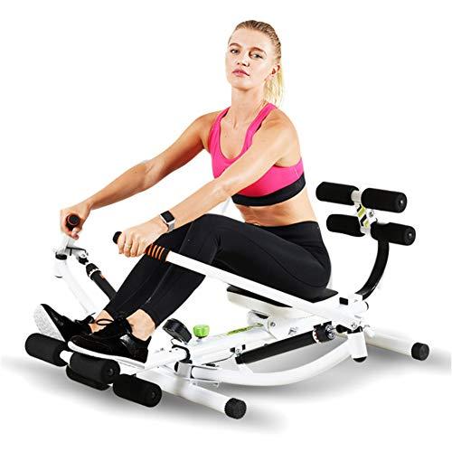GU YONG TAO Full Motion roeimachine, gemakkelijk op te slaan, slipvaste comfortabele handgrepen, Lcd-monitor, verstelbare weerstand en volledige armverlengingen