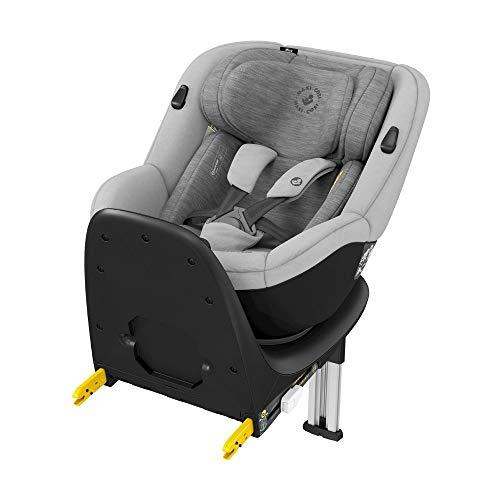 Maxi-Cosi Mica, 360° drehbarer i-Size Kindersitz inkl. ISOFIX Basis, Gruppe 0+/1 Autositz (bis ca. 105 cm / 18 kg) G-Cell Seitenschutz, nutzbar ab der Geburt bis ca. 4 Jahre, authentic grey