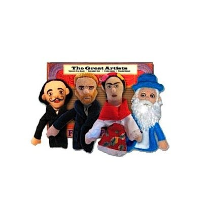 Philosophers Guild Fingerpuppen-Set GREAT ARTISTS magnetisch - B�hne frei!