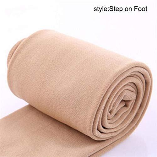 Domeilleur - Mallas térmicas, elásticas, finas, de forro polar para mujer, color color carne, tamaño Step on Foot
