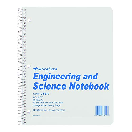 National Engingeering and Science Notebook, 10 x 10 Quad and College...