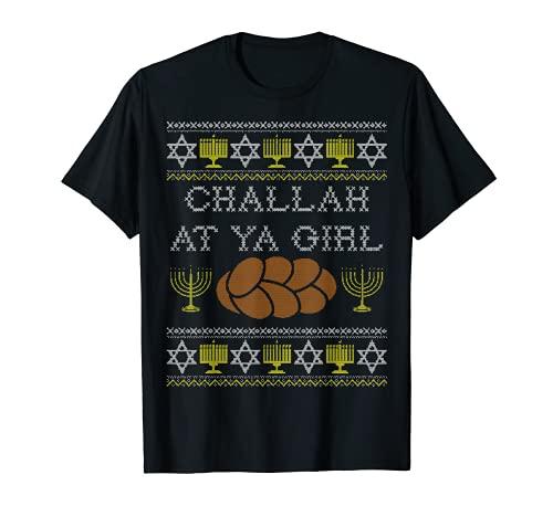 Challah At Ya Girl Shirt, Rosh Hashanah Hanukkah Jewish Food T-Shirt