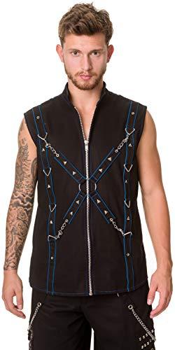 Dead Threads - Black and Blue Men's Waistcoat M/Blue