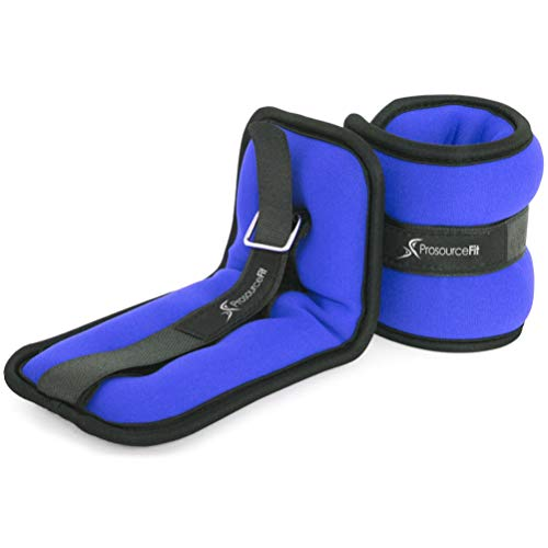 ProsourceFit Ankle Wrist Weights 3 lb  Blue