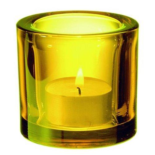Iittala Kivi Windlicht für Teelichter gelb