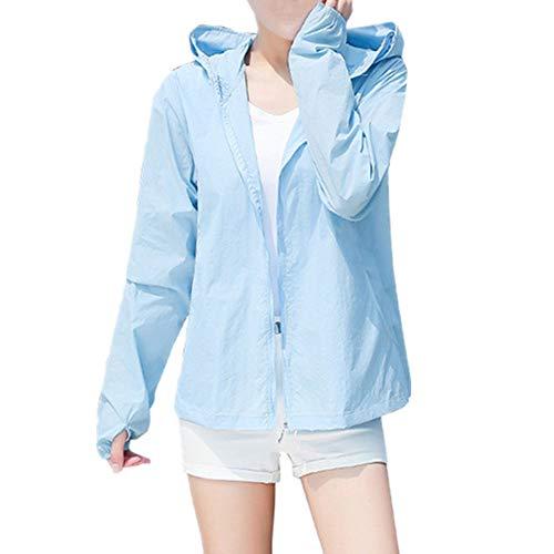 Grandi dimensioni estate spiaggia protezione UV giacca signore protezione solare abbigliamento signore Blu 3XL