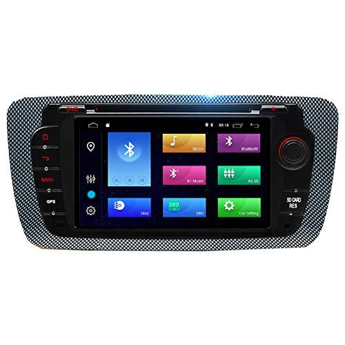 NBVNBV Android 9.0 Touchscreen Autoradio GPS Navigationsgerät Auto Multimedia System Fit für Seat Ibiza 6j 2009 2010 2012 2013 Kostenlose Karte Aktualisierung Rückfahrkamera,Wince with Camera