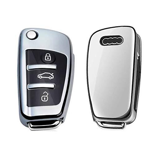 Funda para llave de Audi, 3 botones, A1, S1, A3, S3, RS3, A4, S4, RS4, A6, S6, RS6, Q2, Q3, Q7, TTTT
