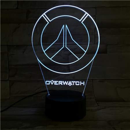 WoloShop LED-Lampe Blizzard Overwatch-Logo Farbwechsel USB Nachtlicht