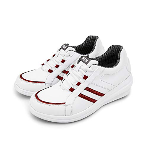 Zapatos de golf para mujer, zapatos deportivos impermeables, zapatos de aumento de talón en pendiente transpirables al aire libre, zapatos deportivos de golf con punta lateral antideslizante, zapato