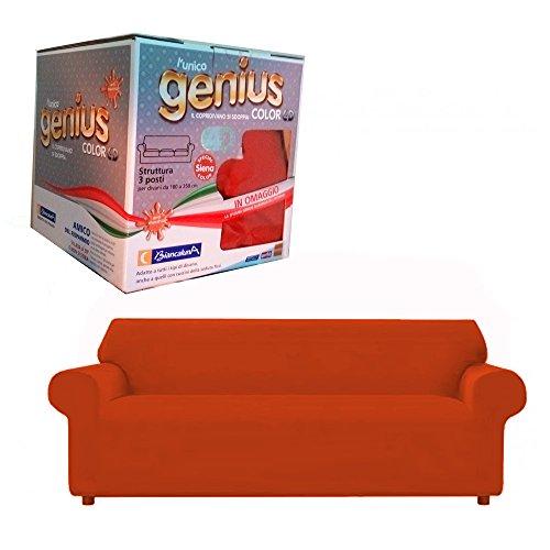 copridivano tre posti color 4D Genius Biancaluna (terra di siena)