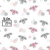 Pingianer 11,99€/m 100x160cm Fledermaus Rot Grau 100%