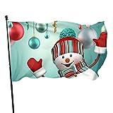 GOSMAO Bandera de jardín Muñeco de Nieve Lindo Feliz Navidad Color Vivo y Resistente a la decoloraci...