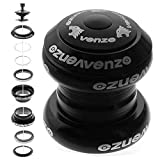 Venzo 1-1/8' Threadless Mountain Bike MTB Headset Sealed Bearings Black - for 34mm Cup Size ONLY