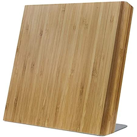 Coninx Bloc à Couteaux Magnétiques Quin | Range Couteaux Aimanté | Porte-Couteaux sans Couteaux | Accessoire de Cuisine23 x 20 x 12 cm (Bambou XL)