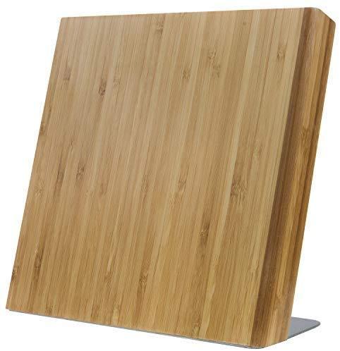 Coninx Quin XL Portacoltelli Blocco Magnetico - – Ceppo Vuoto - Modello Universale in bambù -per Coltelli di Cucina