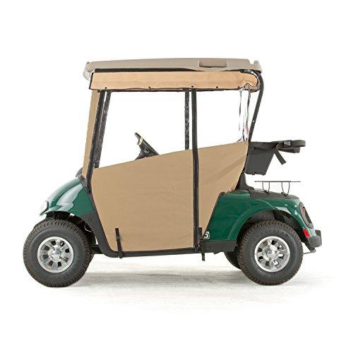 EZGO RXV Golf Cart PRO-TOURING Sunbrella Track Enclosure - Linen-LIN