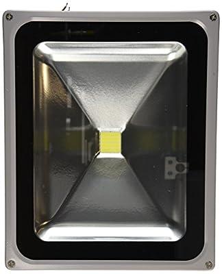 LanLan Waterproof Outdoor Security LED 50 Watt LED Floodlight 90-260 Volt AC, Super Bright White