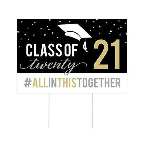 SBLABELS Graduating Senior 2021 Yard Sign/COVID-19 Graduation Recognition Sign/Class of 2021 Party Sign
