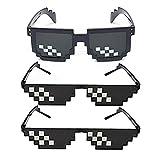 SIMUER Thug Life Glasses Mosaic 8 bits Style Gafas de Sol Pixel...