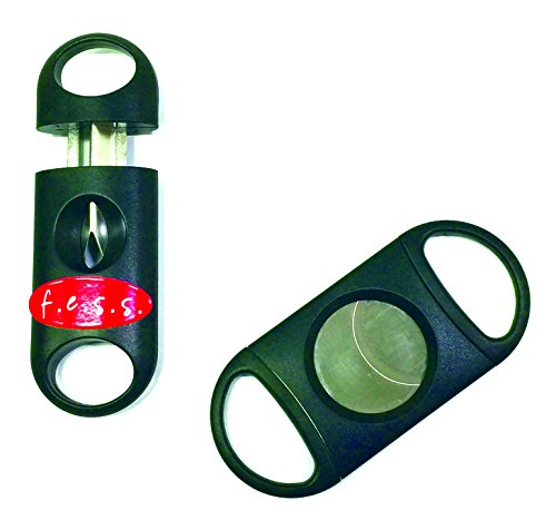 F.e.s.s.s FESS 2 Piece Gift Set Guillotine 80 Ring Guage and 62R V Cut Cigar Cutter