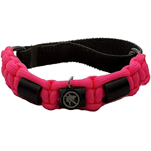 Shark OFF Shark Repellent Bracelet Jewelry | The Rio – Repel Sharks with Patented Alloy Shark Repellent | Adjustable Paracord Bracelet | Non Magnetic, Won't Damage Electronics! (Akala-Pink)