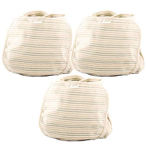 【 オーガニックコットン 】iikuru おむつカバー 3枚組 ベビー オムツカバー おむつ カバー パンツ 赤ちゃん 布おむつ オーガニック コットン 新生児 内ベルト マジックテープ y515