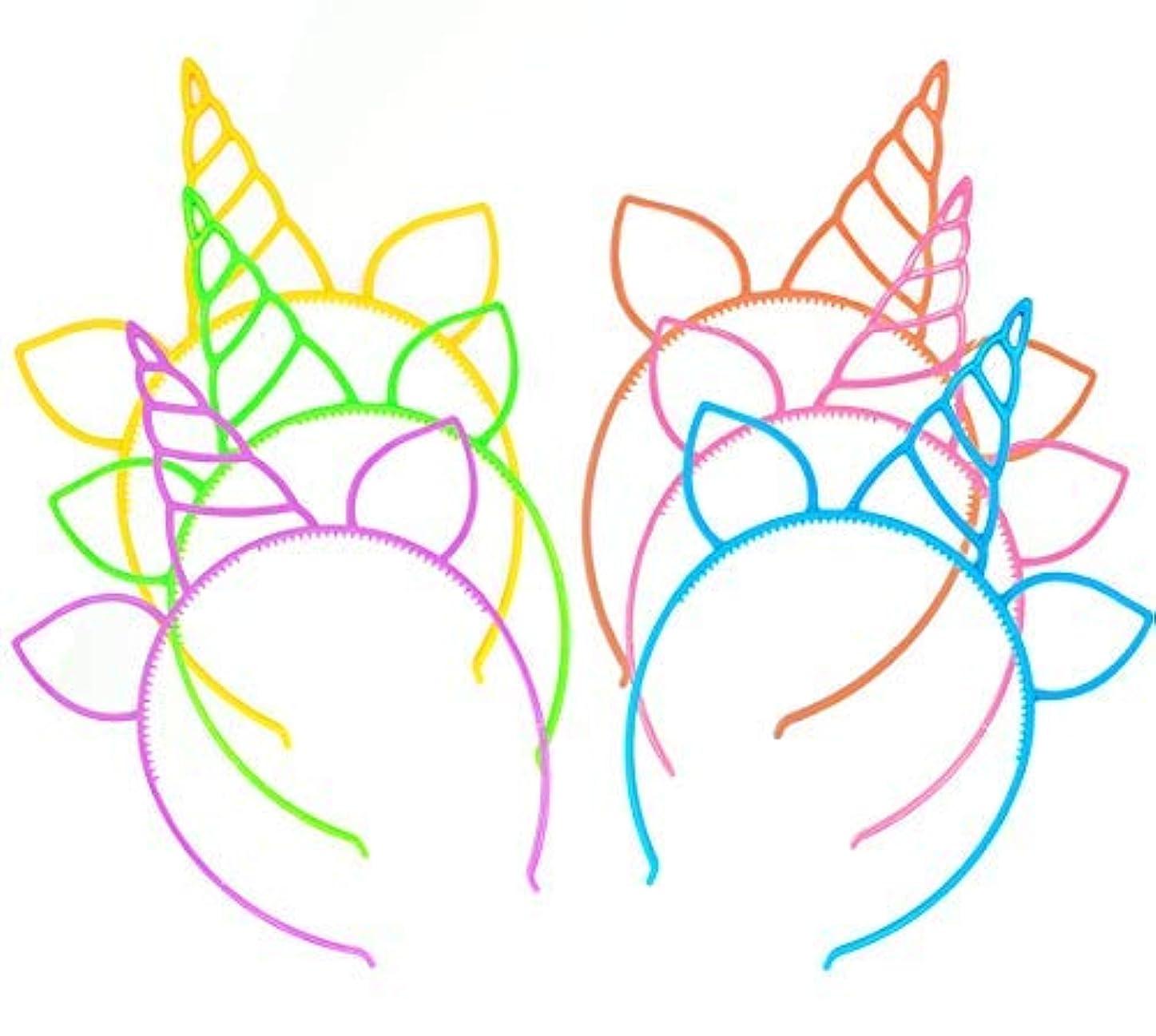 節約引き受ける傾いた12 Pcs Unicorn Headbands Theme Birthday Party Favor Supplies Gift Costume [並行輸入品]