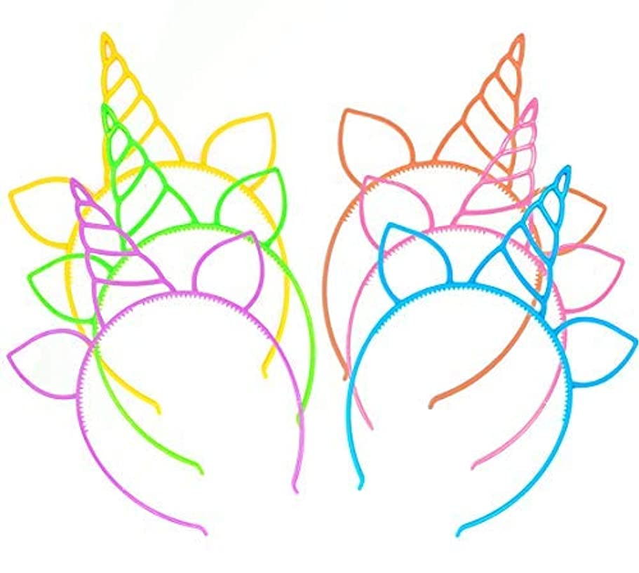 起きろ破壊的な致命的12 Pcs Unicorn Headbands Theme Birthday Party Favor Supplies Gift Costume [並行輸入品]