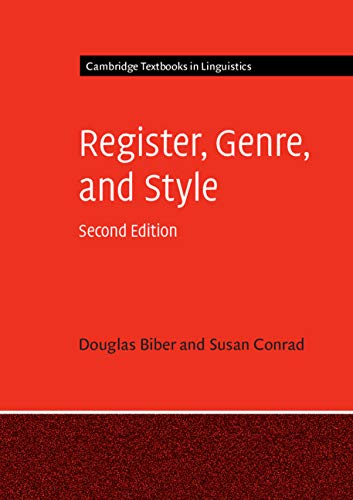 Compare Textbook Prices for Register, Genre, and Style Cambridge Textbooks in Linguistics 2 Edition ISBN 9781108444088 by Biber, Douglas,Conrad, Susan