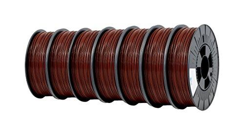 Ice fialements 7valp129Pla Filament, 1,75mm, 0,75kg, Barb Aric Brown (Lot de 7)