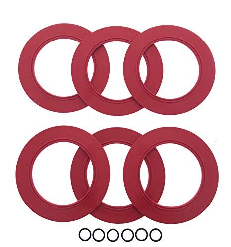 6 PACK Flush Valve Seals For American Standard & Eljer Toilets, Best Replacement For Champion 4 Tanks, 7301111-0070A Models By Essential Values