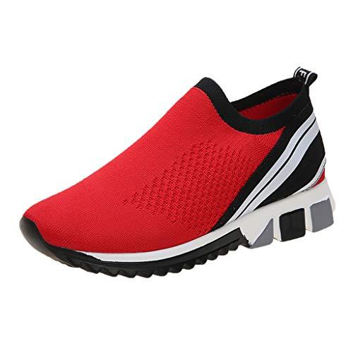 Zapatos Deporte Mujer Zapatillas Deportivas Transpirable Ligero Malla Correr Rojo Amarillo 37-43EU 0206