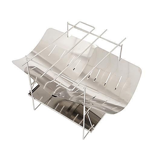 JUZIPI Horno plegable para hoguera, con bolsa de almacenamiento ligera y fácil de transportar, multifunción, para exteriores, soporte para estufa de leña.