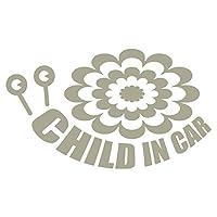 imoninn CHILD in car ステッカー 【シンプル版】 No.27 デンデンムシさん (グレー色)
