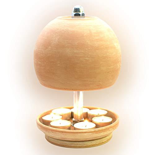 HP-TLO-Serie-K-M-XL-25/16-7 Kerzen! Teelichtlampe Teelichthalter Teelichtofen Stövchen Meditationszubehör Kerzenhalter Teelichter + Feuerzeug GRATIS