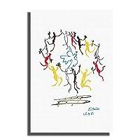 Swarouskllパブロピカソダンスオブユースアートプリントポスター絵画キャンバス家の装飾壁アート掛ける準備ができて-40X60cm木製フレーム