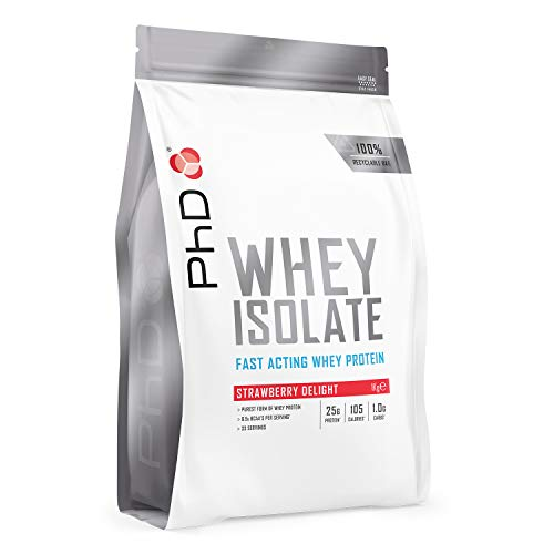 PhD Whey Protein Isolate, Strawberry Delight, 1 kg