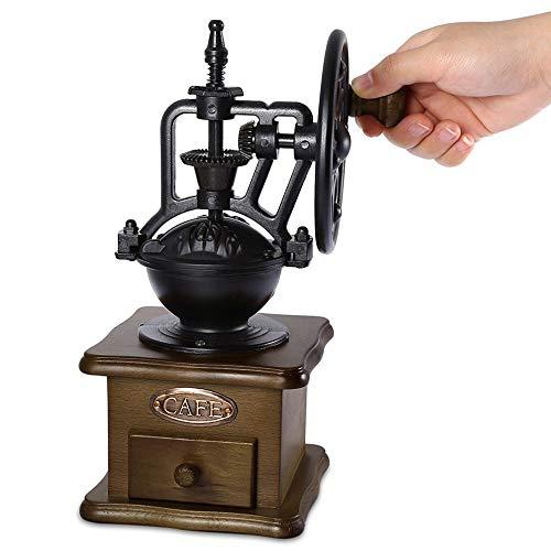 Handmatige koffiemolen Retro-stijl Houten koffiebonenmolen Slijpen Reuzenrad Ontwerp Handkoffie Vintage Maker Keukengereedschap
