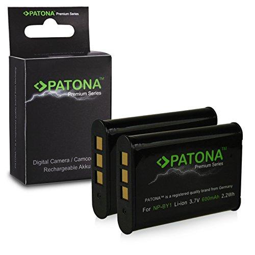 PATONA 2X Premium Akku NP-BY1 kompatibel mit Sony HD Action Cam HDR-AZ1, HDR-AZ1VR, in zuverlässiger und geprüfter Qualität