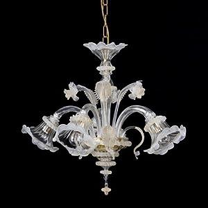 Helen Mignon - Lámpara de techo de cristal de Murano con 5 luces