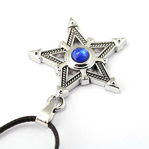 DTKJ Anhänger Jewelry Anime Zubehör Black Rock Shooter Pentagramm Diamant Anhänger Halskette