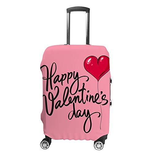 CHEHONG Maleta cubierta de equipaje cubierta día de San Valentín globo rojo maleta de viaje funda protectora lavable fibra de poliéster elástica a prueba de polvo para 45 a 81 cm