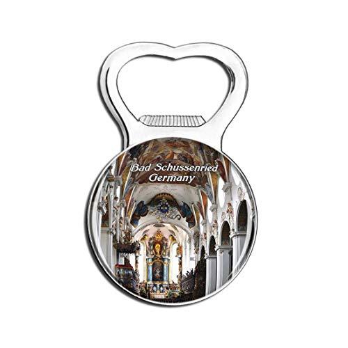 Weekino Bad Schussenried Kirche Deutschland Bier Flaschenöffner Kühlschrank Magnet Metall Souvenir Reise Gift