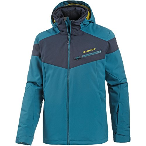 Ziener Herren TOLO Jacket ski Skijacke, Blue sea, 48