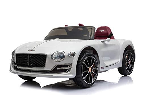 Toyas Lizenz Bentley Kinder Elektrofahrzeug Kinderfahrzeug Kinderauto Elektroauto 2X 30W Motor Weiß*