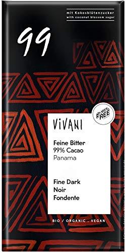 Vivani Bio Feine Bitter 99 % Cacao (6 x 80 gr)